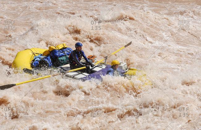 Rafters running Lava Falls, Colorado River
