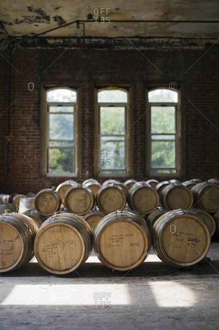 Whiskey barrel room