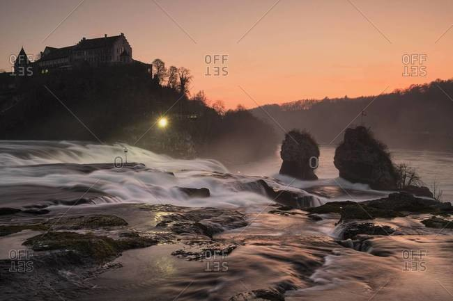 Rhine falls with Laufen Castle