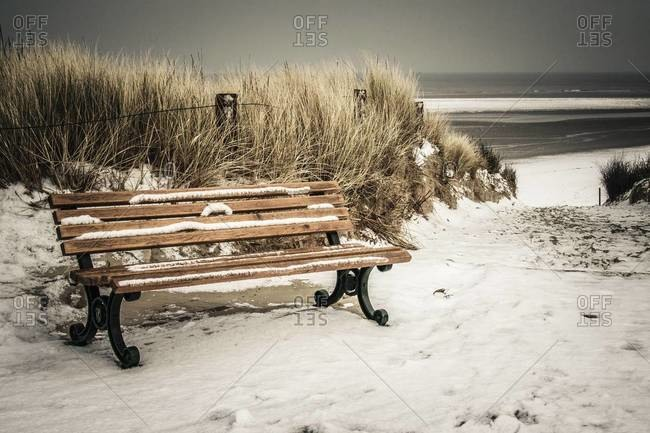 Bench at the beach of Langeoog