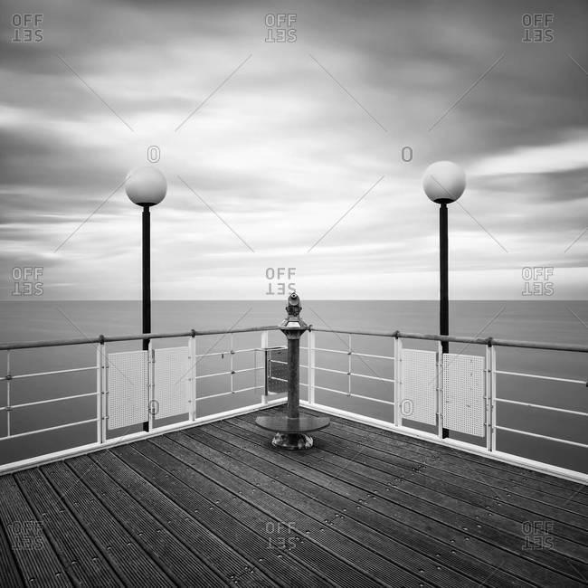 Pier with telescope