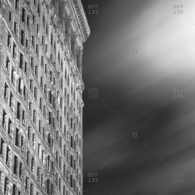 Flatiron building and clouds