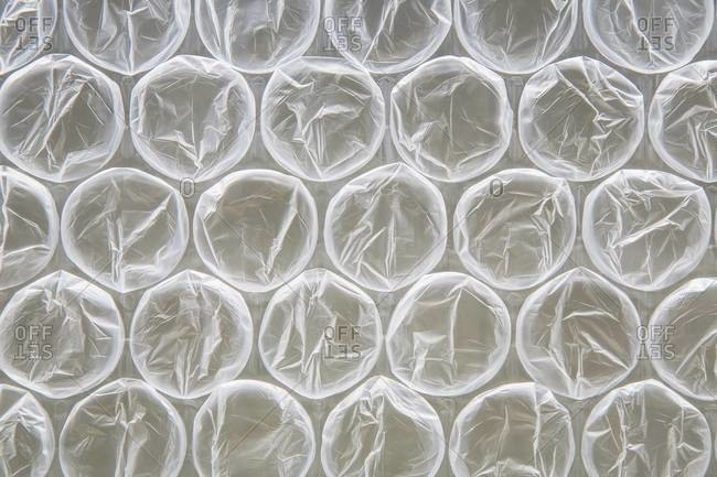 Close-up of bubble wrap which is used for packaging