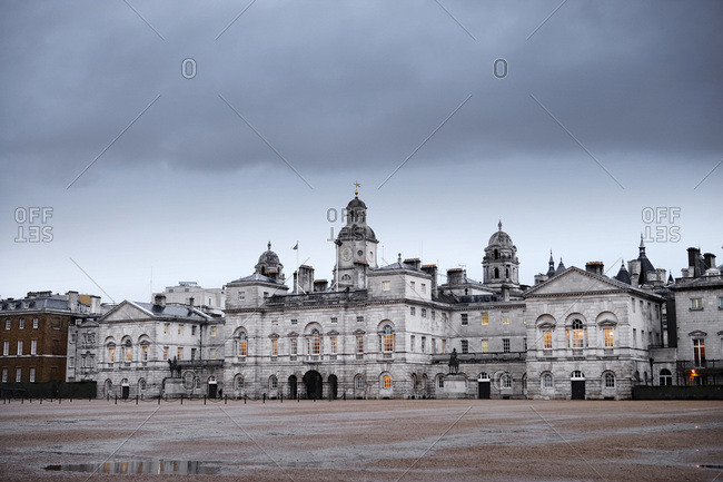 Horse Guards Parade, a large parade ground off Whitehall in central London