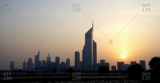 Skyline at Sunset, Dubai, United Arab Emirates