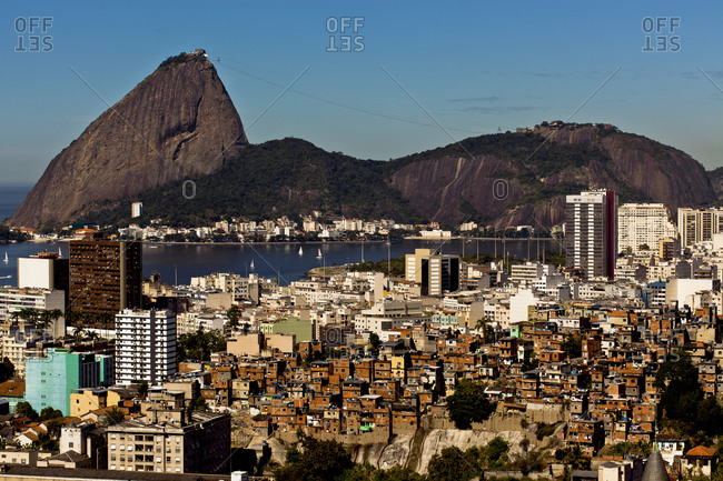 Aerial view on Rio de Janeiro with Sugarloaf Mountain