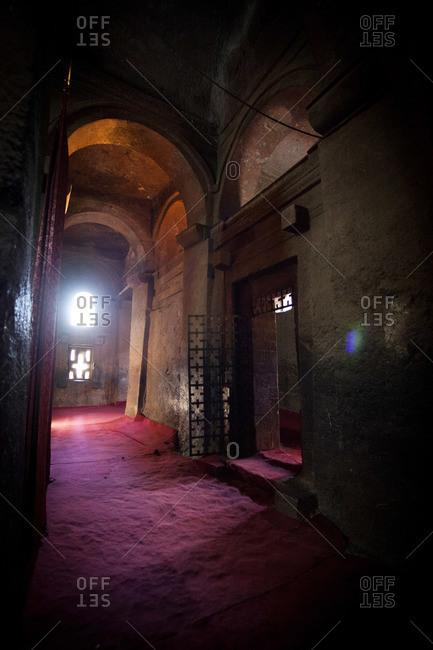 Mystic interior in Ethiopian ancient church