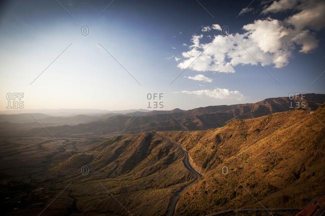 Scenic landscape in Ethiopia