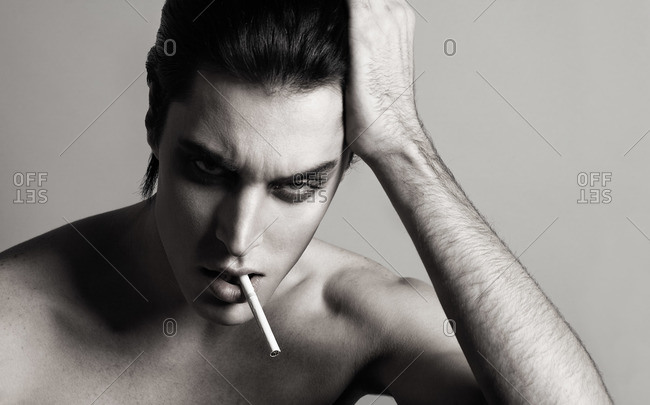 Portrait of an androgynous male model