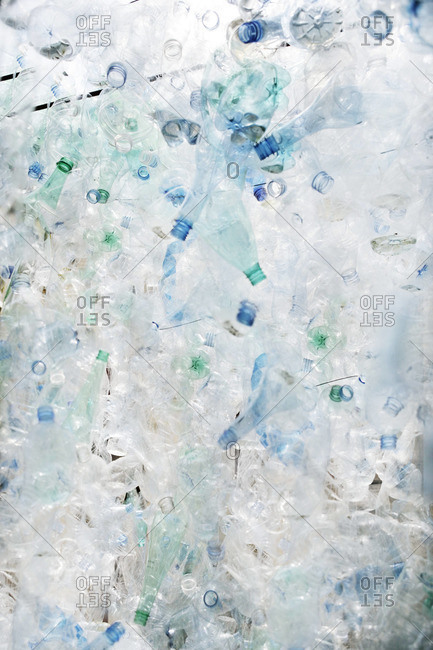 Pile of empty, plastic bottles