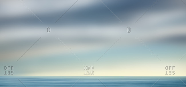 Blurred seascape and sky