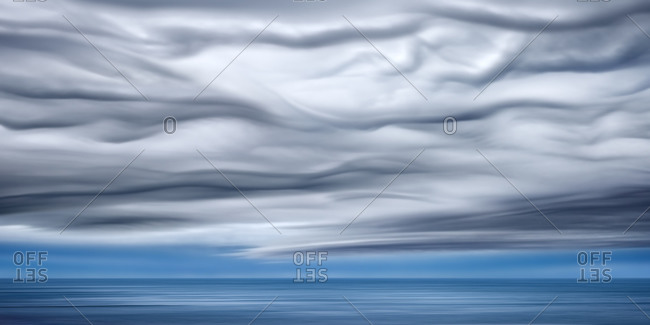 Artistic cloudscape above the sea