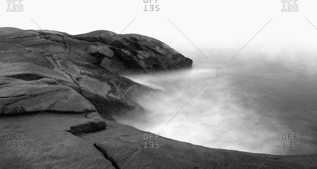 Mystic rocky seashore