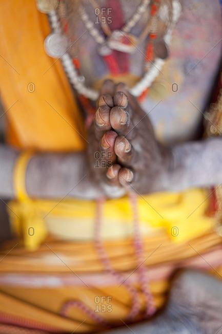 Praying sadhu in Kathmandu