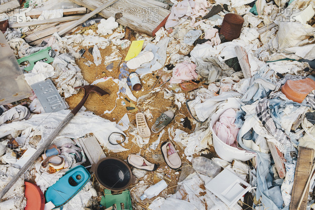 A heap of garbage and discarded items