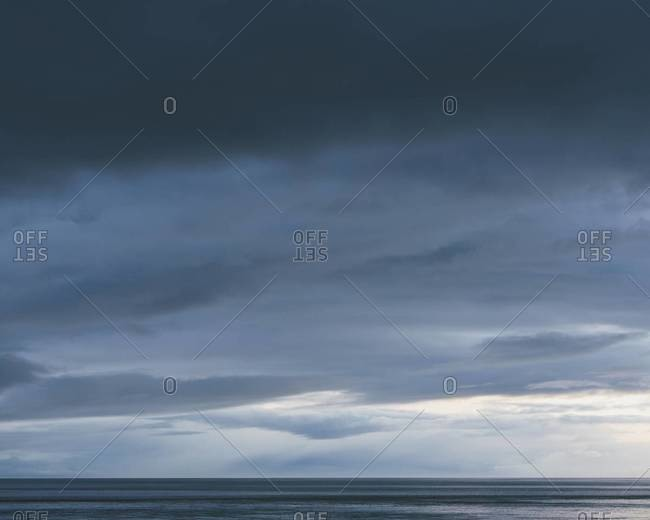 The sea and sky over Puget Sound in Washington, USA