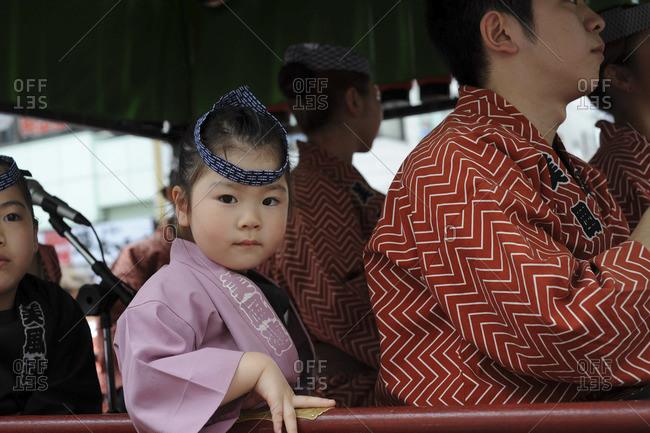 Child at Sanja Matsuri festival, Asakusa Shrine, Tokyo, May 20, 2012