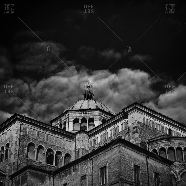 Low angle view of the Parma Cathedral, Italy