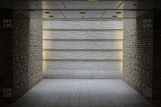 Empty hallway in Tokyo, Japan