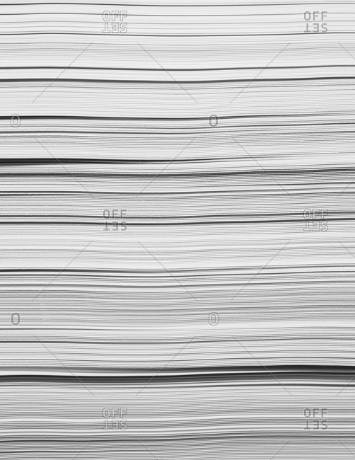 A stack of recycled white paper