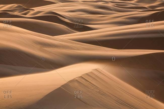 Sand dunes in, Namibia