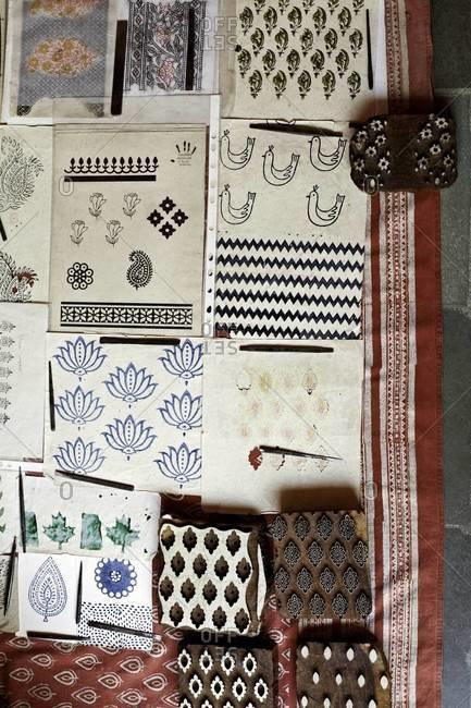Block prints and wood blocks