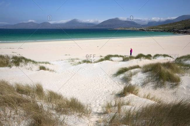 Sandy Lusketyne beach at Isle of Harris, Outer Hebrides, Scotland