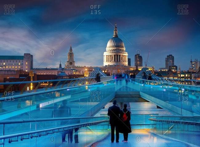 St Paul's Cathedral from the Millennium Bridge, London