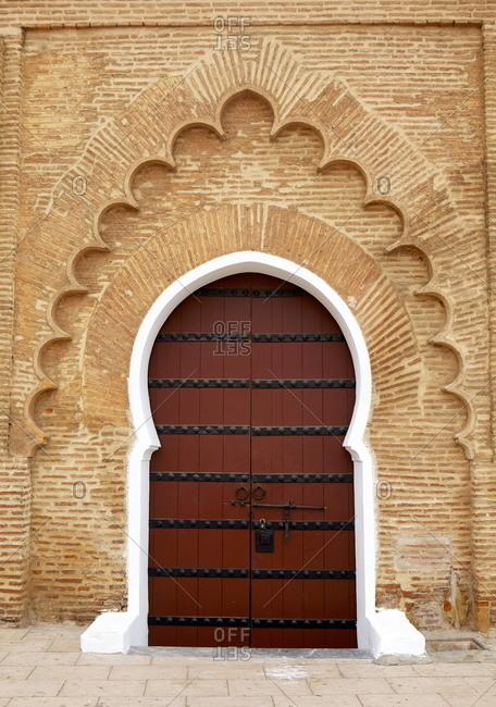 Traditional doorway to Koutoubia Mosque Marrakech, Morocco, North Africa, Africa