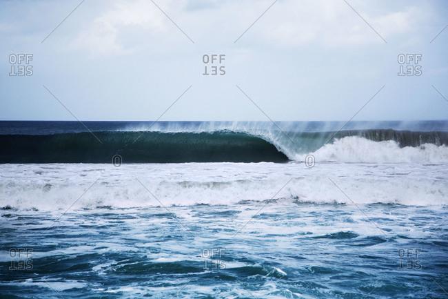 Wave on the coast of Nicaragua