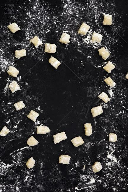 Gnocchi heart on table