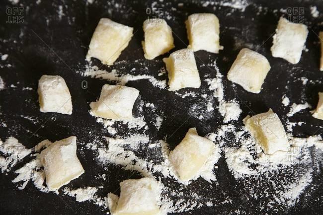 Preparing traditional Italian gnocchi