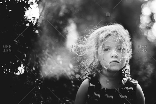 Portrait of girl in the nature