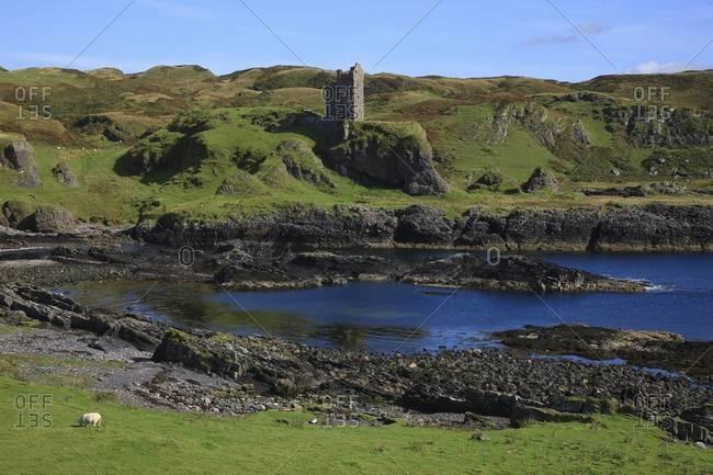 The Gylen Castle on the Isle of Kerrera, Scotland