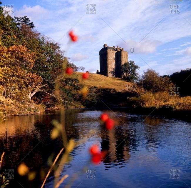 The Neidpath Castle in the Borders, Scotland