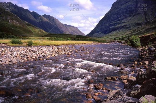 Glen Coe in the Highlands of Scotland