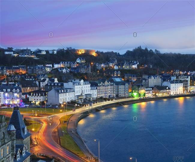 Oban from Cathedral tower, Scotland