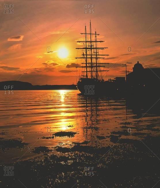 Harbor in Oban, Scotland