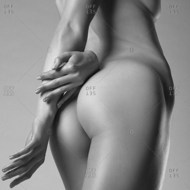 Hips of naked woman