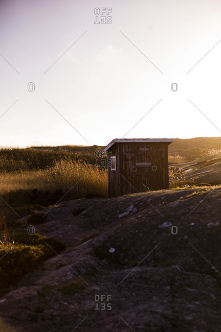 Wooden shack in the countryside
