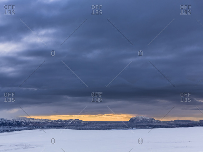 Winter scenery at Burfell, Iceland