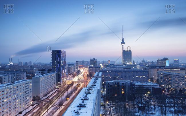 Berlin winter skyline