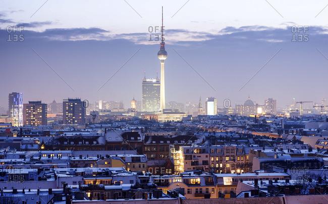 Berlin cityscape in the winter