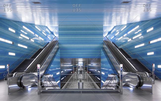 Hamburg metro station Ueberseequartier U4