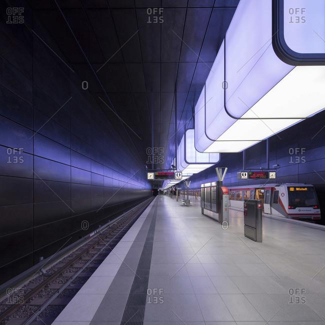 Hamburg metro station Hafencity U4