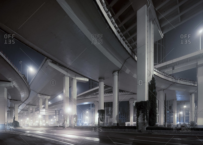 Shanghai Bridges at Night