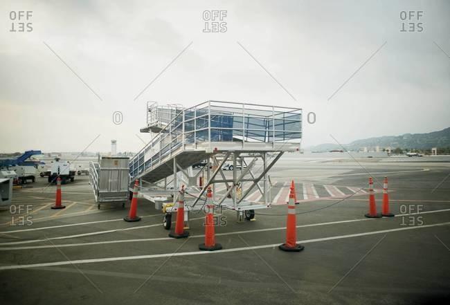 Airplane ramp on tarmac - Offset
