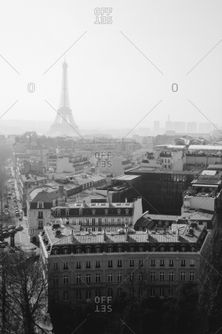 Paris cityscape with the Eiffel Tower