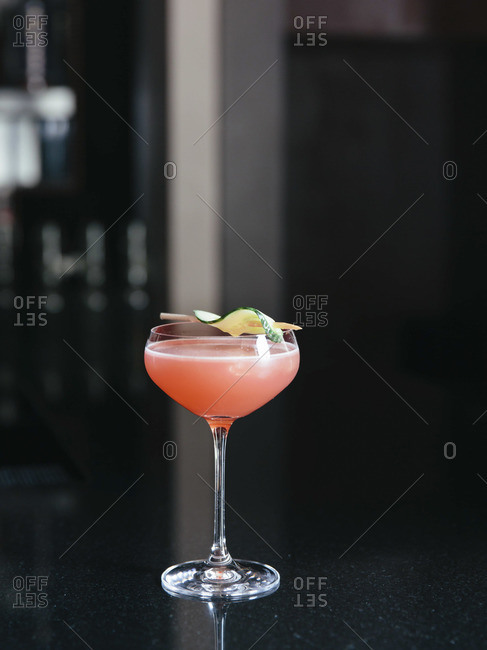 Decorative cocktail on table