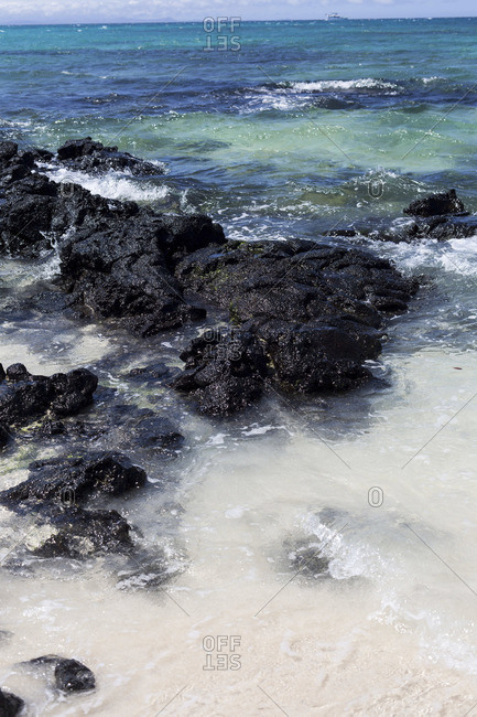 Rocky beach in Galapagos Islands